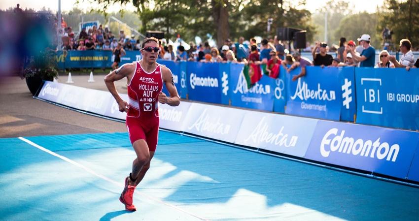 Trisuit triathlon kleding rood man tri